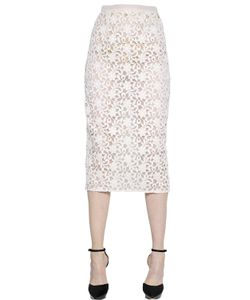 Burberry London | Cotton Lace Organza Pencil Skirt
