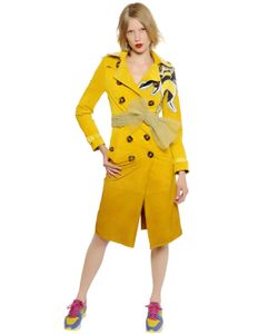 Burberry Prorsum | Gradient Suede Trench Coat W/ Bee Detail