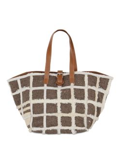 Carmina Campus | Karla Recycled Shearling Tote Bag
