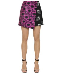 Caterina Gatta | Floral Fil Coupe Printed Cady Skirt