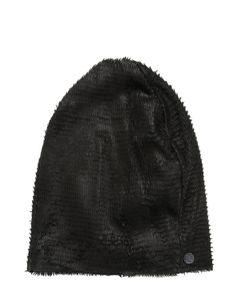Cutuli Cult | Textured Laser-Cut Leather Hat