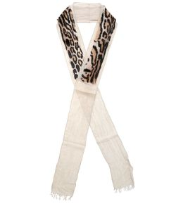 Cutuli Cult | Leopard Printed Fur Modal Scarf