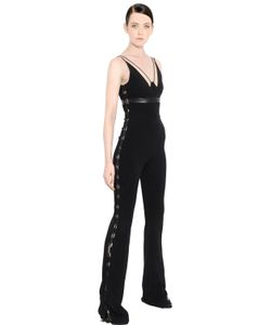 David Koma | Cady Jumpsuit W/ Leather Lace-Up Detail
