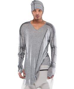 Demobaza | V Cozy Cotton Cashmere Jersey Top