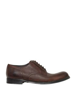 Dolce & Gabbana | Siracusa Stone Wash Leather Derby Shoes