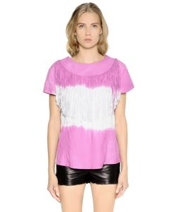 Drome | Tie Dyed Fringed Nappa Leather Top