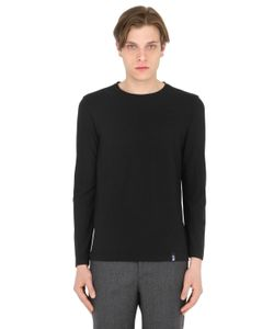 Drumohr | Cotton Crepe Jersey Long Sleeve T-Shirt