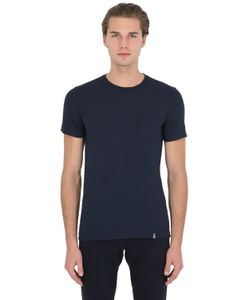 Drumohr | Cotton Crepe T-Shirt With Jersey Pocket