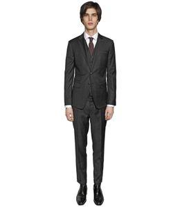 Dsquared2 | London Check Wool Gabardine 3 Piece Suit