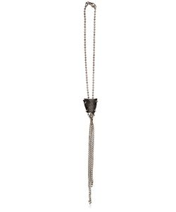 Emanuele Bicocchi | Silver Ball Chain Leather Necklace