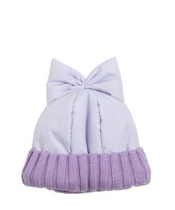 Federica Moretti | Padded Nylon Beanie Hat With Bow