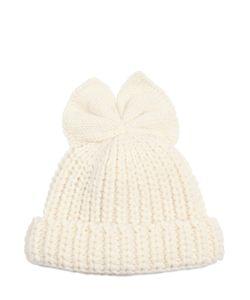 Federica Moretti | Ribbed Wool Hat W/ Bow