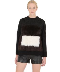 Fendi | Shearling Wool Blend Sweatshirt