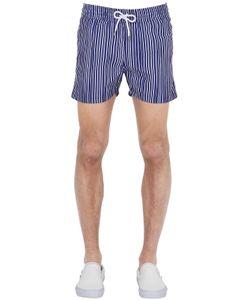 Frescobol Carioca | Sports Traços Striped Swimming Shorts