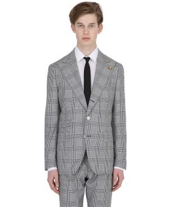Gabriele Pasini | Prince Of Wales Wool Cotton Jacket