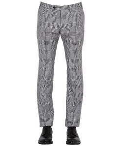 Gabriele Pasini | 18cm Prince Of Wales Wool Cotton Pants