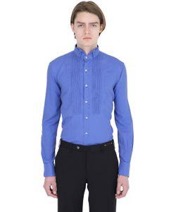 Gabriele Pasini | Silk Twill Plisse Plastron Shirt