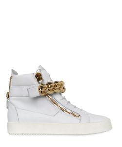 Giuseppe Zanotti Design | Chain Bangle Leather High Top Sneakers