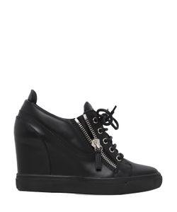 Giuseppe Zanotti Design | 90mm Leather Wedge Sneakers