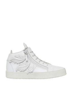 Giuseppe Zanotti Design | Enamel Leaves Leather Mid Top Sneakers