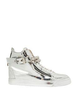 Giuseppe Zanotti Design | Metal Chain Leather High Top Sneakers