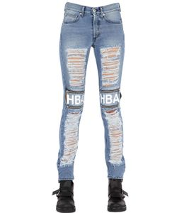 Hood By Air | Shredded Cotton Denim Jeans