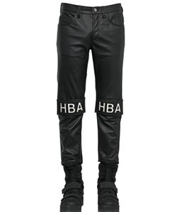 Hood By Air | 17cm Velcro Patched Smooth Leather Jeans