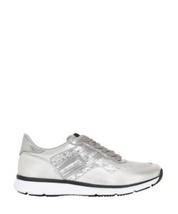 Hogan | 30mm H254 Leather Sneakers W/ Sequins