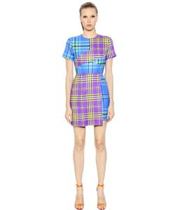 House Of Holland | Asymmetrical Patchwork Plaid Wool Dress