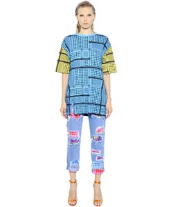 House Of Holland | Keffiyeh Check Cotton T-Shirt Dress