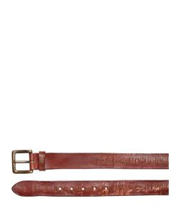 Htc Hollywood Trading Company | 40mm Lamar Carved Leather Belt