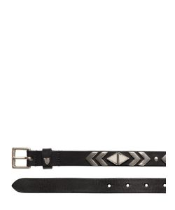 Htc Hollywood Trading Company | 25mm Triangle Studs Leather Belt