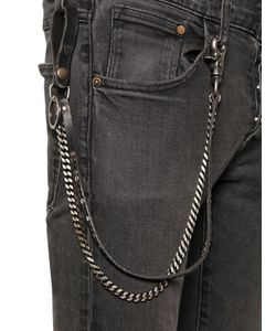 Htc Hollywood Trading Company | Studded Leather Metal Pocket Chain