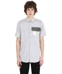 Jil Sander | Vinyl Collar Stretch Cotton Poplin Shirt