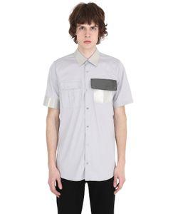 Jil Sander | Vinyl Collar Stretch Cotton Poplin Shirt