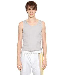 Jil Sander | Stretch Cotton Blend Poplin Tank Top