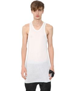 Julius | Sheer Back Insert Jersey Long Tank Top