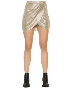Just Cavalli | Laminated Jersey Crossover Skirt