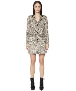 Just Cavalli | Leopard Printed Faux Pony Hair Coat