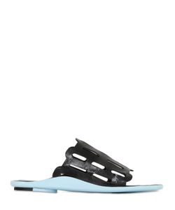 Kenzo | 10mm Embossed Patent Leather Sandals
