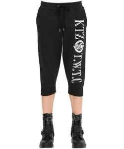 KTZ | Cropped Embroidered Cotton Jogging Pants
