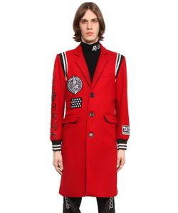 KTZ | Varsity Style Wool Coat With Patches