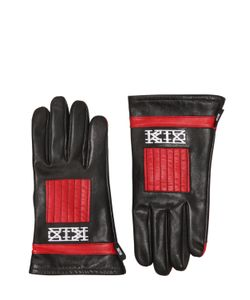 KTZ | Two Tone Embroidered Leather Gloves