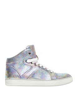 Lanvin | Laminated Leather High Top Sneakers