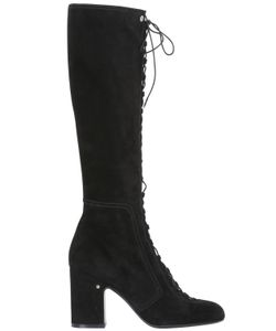 Laurence Dacade | 70mm Mina Lace-Up Suede Boots