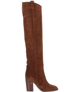 Laurence Dacade | 100mm Over The Knee Suede Boots