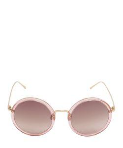 Linda Farrow | Gold Plated Round Sunglasses