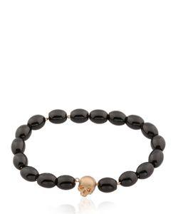 Luis Morais | Skull Amulet Beaded Bracelet
