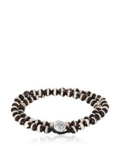 Luis Morais | Double Wrap Mantra Beaded Bracelet