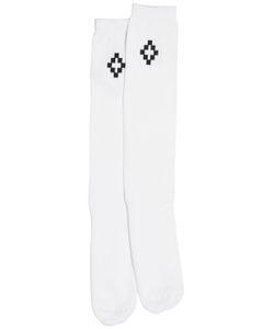 Marcelo Burlon County Of Milan   Logo Printed Long Socks
